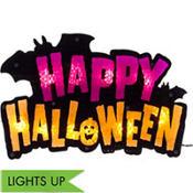 Light-Up Happy Halloween Sign