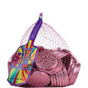 Bright Pink Chocolate Coins 72pc