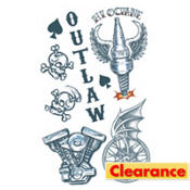 Outlaw Biker Tattoos 1 Sheet