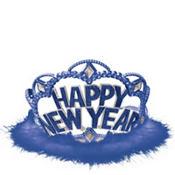 Blue Marabou New Year's Tiara