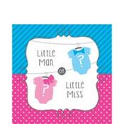 Little Man, Little Miss Gender Reveal Lunch Napkins 16ct
