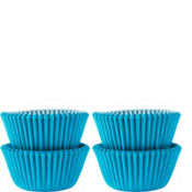 Mini Caribbean Blue Baking Cups 100ct