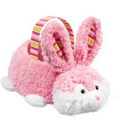 Plush Pink Bunny Easter Basket