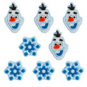 Frozen Olaf Icing Decorations 12ct