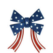Patriotic Metal Bow Decoration