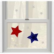 Patriotic Star Gel Cling Decals 10ct