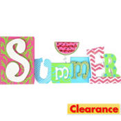 Summer Block Letter Sign