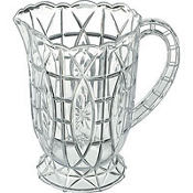 Plastic Crystal Cut Pitcher