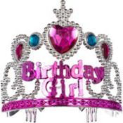 Child Pink Birthday Girl Tiara