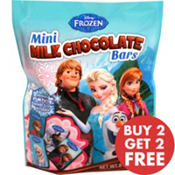 Frozen Mini Milk Chocolate Bars 18pc