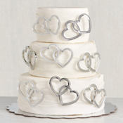 Double Heart Wedding Cake Picks