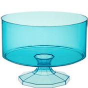 Caribbean Blue Plastic Trifle Container