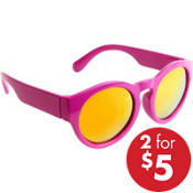 Bright Pink Round Sunglasses