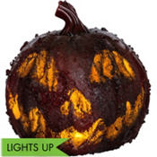 Light-Up Bloody Pumpkin