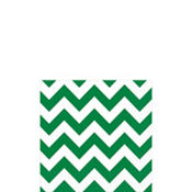 Festive Green Chevron Beverage Napkins 16ct