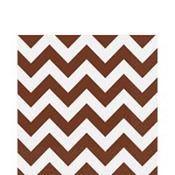 Chocolate Brown Chevron Lunch Napkins 16ct