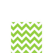 Kiwi Green Chevron Beverage Napkins 16ct