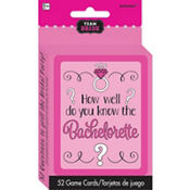 Team Bride How Well Do You Know the Bachelorette? Bachelorette Party Game