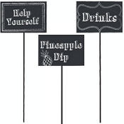 Chalkboard Centerpiece Sticks 3ct
