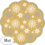 Snowflake Kraft Doilies 18ct