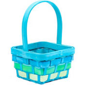 Small Blue Wood Easter Basket