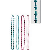 Girl or Boy Gender Reveal Bead Necklaces 10ct