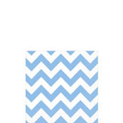 Pastel Blue Chevron Beverage Napkins 16ct