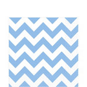 Pastel Blue Chevron Lunch Napkins 16ct