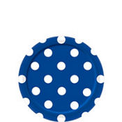 Royal Blue Polka Dot Dessert Plates 8ct