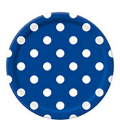 Royal Blue Polka Dot Lunch Plates 8ct
