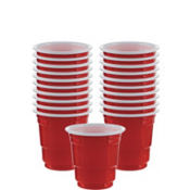 Red Plastic Cup Shot Glasses 30ct