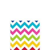 Bright Chevron Beverage Napkins 16ct