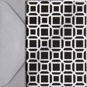 Metallic Black Geometric Note Cards 20ct