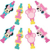 1st Birthday Minnie Mouse Blowouts 8ct