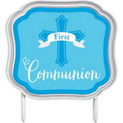 Pink First Communion Cake Topper