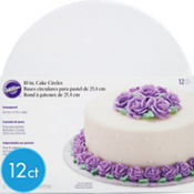 White Cake Boards 12ct