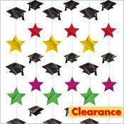 Multicolor Hanging Graduation Decorations 7ft 6ct