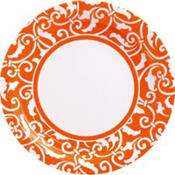 Orange Peel Ornamental Scroll Party Supplies