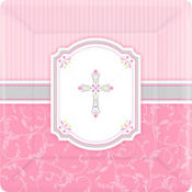 Pink Communion Blessings Party Supplies