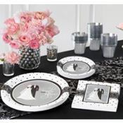Black & White Wedding Party Supplies