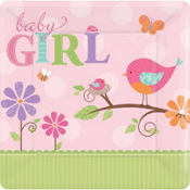Tweet Baby Girl Baby Shower Party Supplies