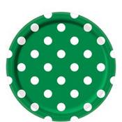 Festive Green Polka Dot Party Supplies
