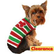 Red and Green Holiday Bone Dog Sweater