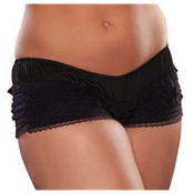 Black Ruffled Boyshorts Plus Size