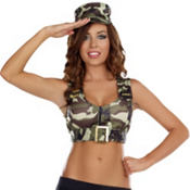 Adult Batallion Babe Camo Costume Kit