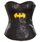 Adult Sequin Batgirl Corset - Batman