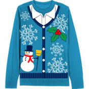 Snowman Vest Christmas Sweater
