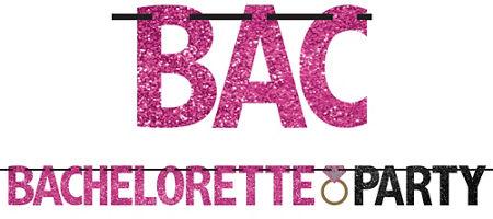 Quick Shop Glitter Bachelorette Party Letter Banner