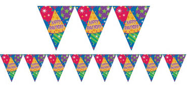 Prismatic Happy Birthday Pennant Banner
