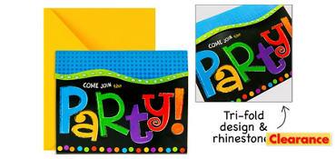 Premium Punchy Birthday Invitations 8ct